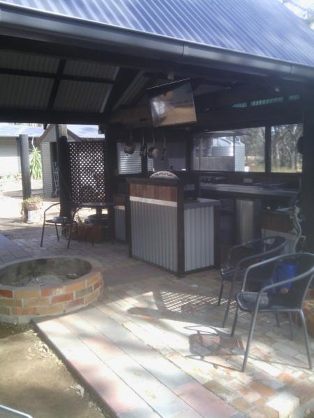 Our out door kitchen